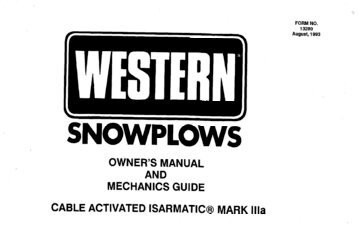 Snowplow assembly procedu pickup truck snowplow scoop plow hiniker om and mg straight blades with cable activated isarmatic mark iiia sciox Images