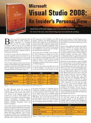 Microsoft Visual Studio 2008 - QBS Software