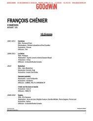 FRANÇOIS CHÉNIER - Agence Goodwin