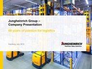 Jungheinrich Group – Company Presentation 60 years ... - PrecisionIR
