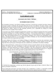 03/11/2008 - Fato Relevante - Relações com Investidores - Banco Itaú
