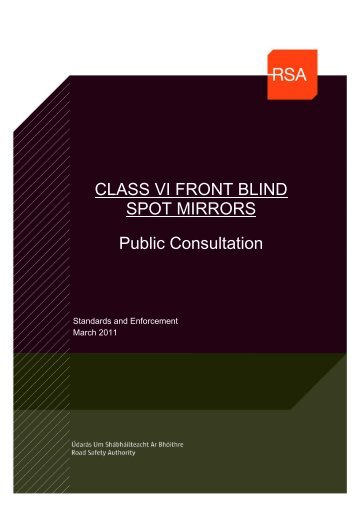 Class VI Front Blind Spot Mirrors - Road Safety Authority