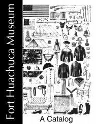 Museum Catalog - Fort Huachuca - U.S. Army