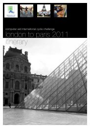 London to Paris Itinerary - Computer Aid International