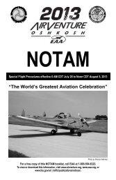 2013 AirVenture NOTAM - EAA AirVenture
