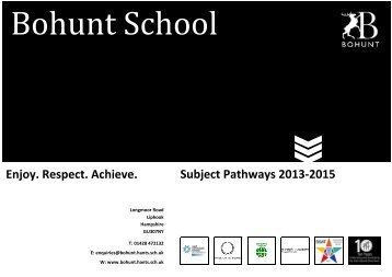 Pathways Booklet 2013-15 - Bohunt School