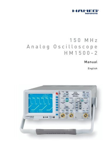 Manual for HM1500-2 as PDF here.