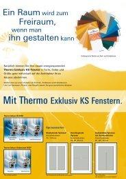 Mit Thermo Exklusiv KS Fenstern. - Eibner und Regnath Fenster ...