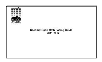 Common Core Standards First Grade Math Pacing Guide