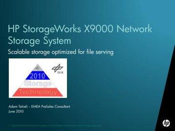 HP StorageWorks X9000 Network Storage System