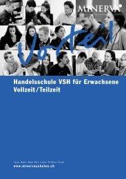 Handelsschule VSH für Erwachsene Vollzeit / Teilzeit - Minerva