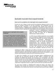 Dystrophie musculaire facio-scapulo-humérale