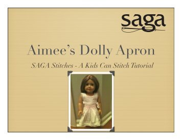 Aimee's Dolly Apron - SAGA Stitches Tutorial - Sew Mama Sew