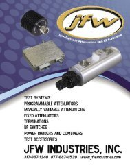 Download the full JFW Catalog. - JFW Industries