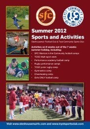 Summer 2012 Sports and Activities - Scottish Football Association