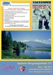 Spittaler Bergsteigerblatt 171 - Alpenverein Spittal/Drau