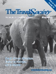 Vol. 26 No. 10 December 2008 – South Africa - The Travel Society