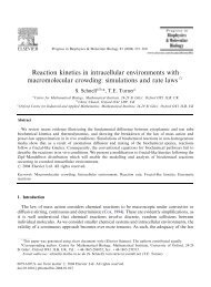 Reaction kinetics in intracellular environments with macromolecular ...
