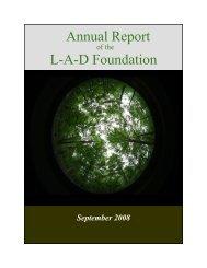 2008 - The LAD Foundation