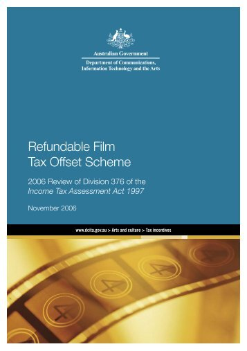 Refundable Film Tax Offset Scheme - Office for the Arts
