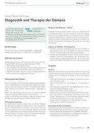 Diagnostik und Therapie der Demenz