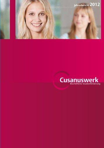 Jahresbericht 2012 - Cusanuswerk