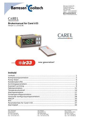 brukermanual for carel ir33 innhold barresen cooltech as?quality=85 carel magazines carel ir33 wiring diagram at crackthecode.co