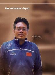 2011 Investor Relations Report - Li Ning