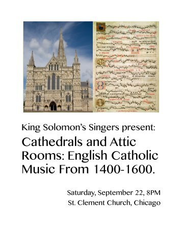 Cathedrals and Attic Rooms: English Catholic Music From ... - KICP