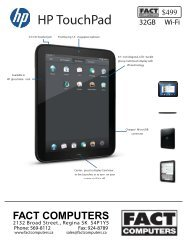 HP TouchPad - FACT Computers