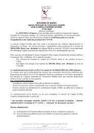 Consulter l'avis de l'Appel d'offres - Agence Nationale de l ...
