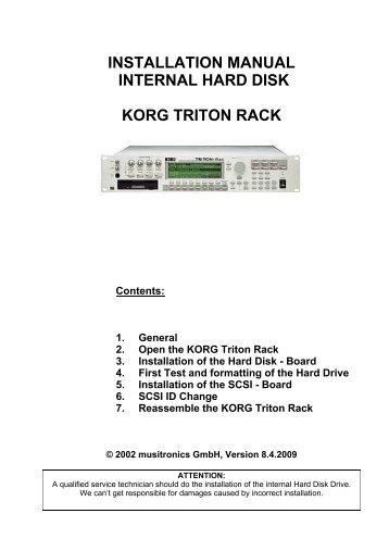 Triton cet manual boylan group installation manual internal hard disk korg triton rack musitronics publicscrutiny Choice Image