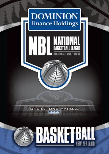 Basketball Operations Manual - Basketball New Zealand