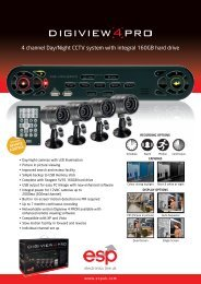 4 channel Day/Night CCTV system with integral ... - SD Fire Alarms