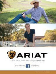 ariat® aPParel, Footwear aNd aCCeSSorieS SPRING 2012