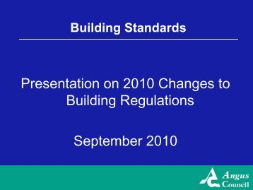 Presentation to Agents September 2010