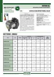 ricircolo acqua impianti pannelli solari - DAB Pumps S.p.a.