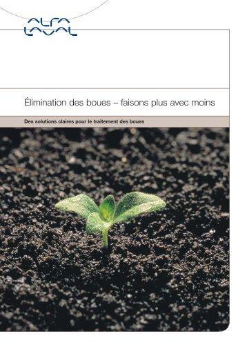 Élimination des boues – faisons plus avec moins - Alfa Laval