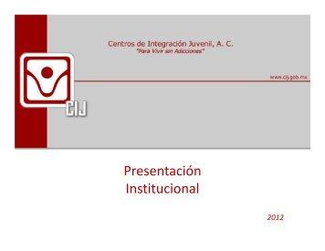 Presentación CIJ 12 - Centros de Integración Juvenil