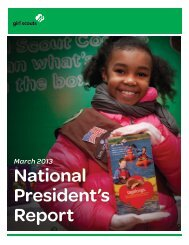 National President's Report - Girl Scouts of the Missouri Heartland
