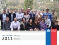 Cuenta de Gestión año 2011 - Dirección de Planeamiento