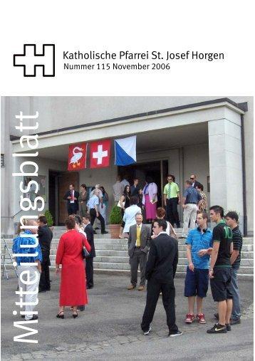 M itteilungsblatt - Katholische Kirche Horgen