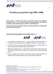 Pravidla pro používání loga SPŘ a IPMA