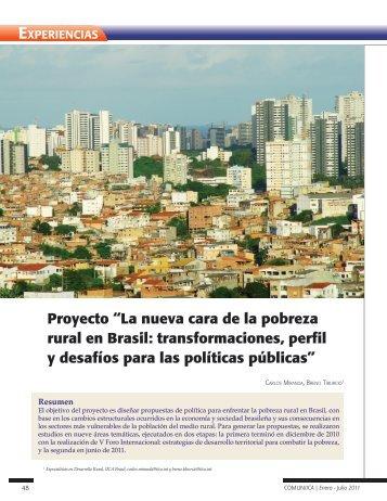 """Proyecto """"La nueva cara de la pobreza rural en Brasil ..."""