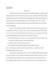 Annie's paper - The Loomis Chaffee School