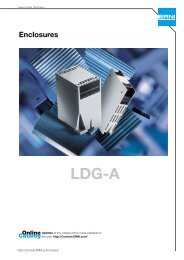 Enclosures LDG-A - Comdes