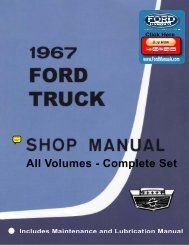 DEMO - 1967 Ford Truck Shop Manual - FordManuals.com
