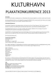 PLAKATKONKURRENCE 2013 - Kulturhavn