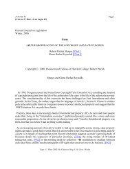 Harvard Journal on Legislation Winter, 2000 Essay ... - College of Law