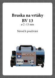 Návod BV 13 - NÁSTROJE CZ sro